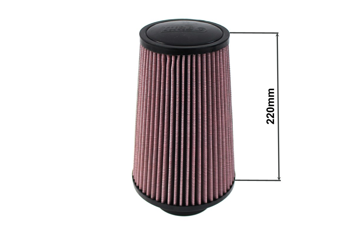 Filtr stożkowy TURBOWORKS H:220mm OTW:60-77mm Purple - GRUBYGARAGE - Sklep Tuningowy